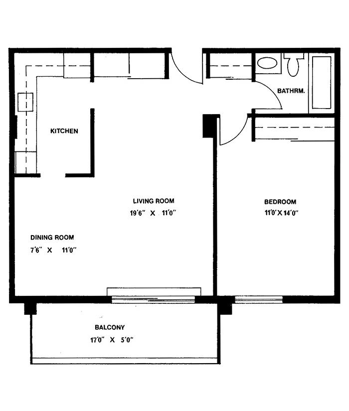 1 Bedroom - Suites 4, 6, 8 & 9