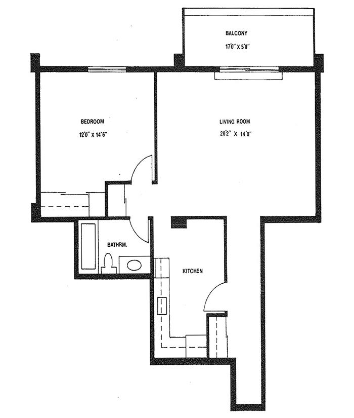 1 Bedroom - Suite 5