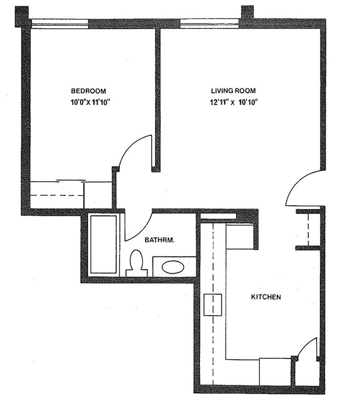 1 Bedroom - Suite 105