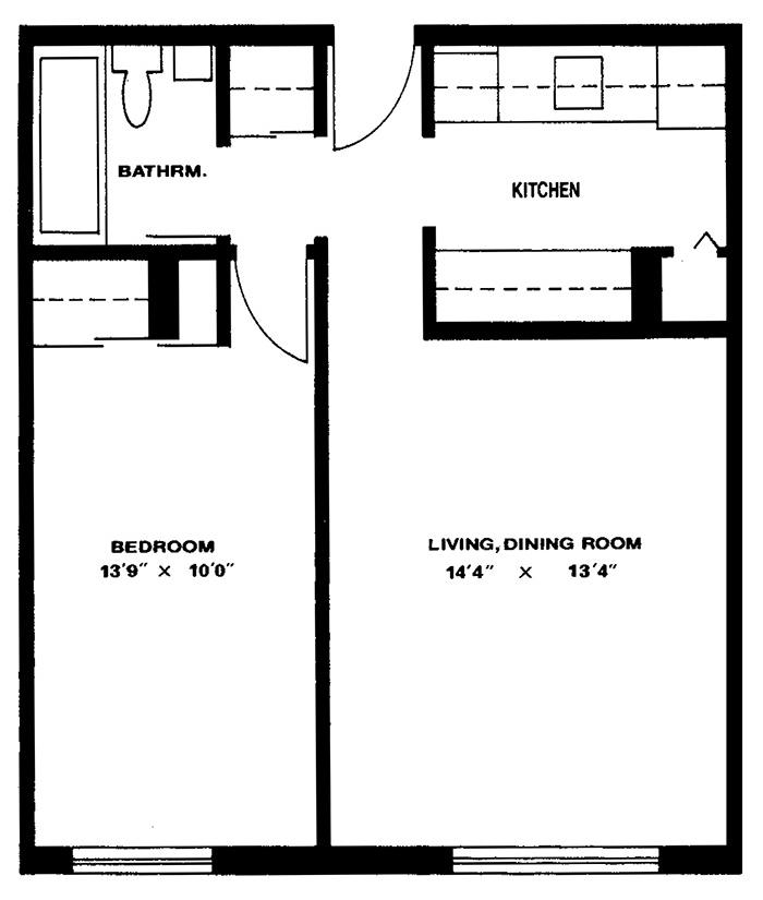 1 Bedroom - Suite 106