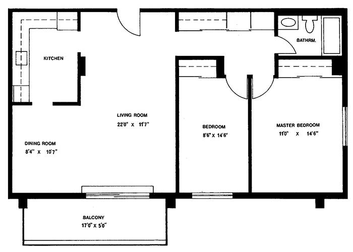 2 Bedroom - Suites 1 & 10