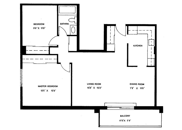 2 Bedroom - Suites 2 & 12