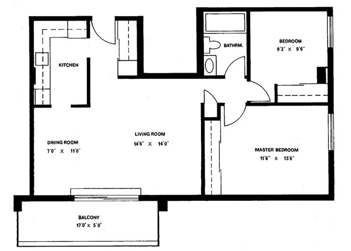 2 Bedroom - Suite 112